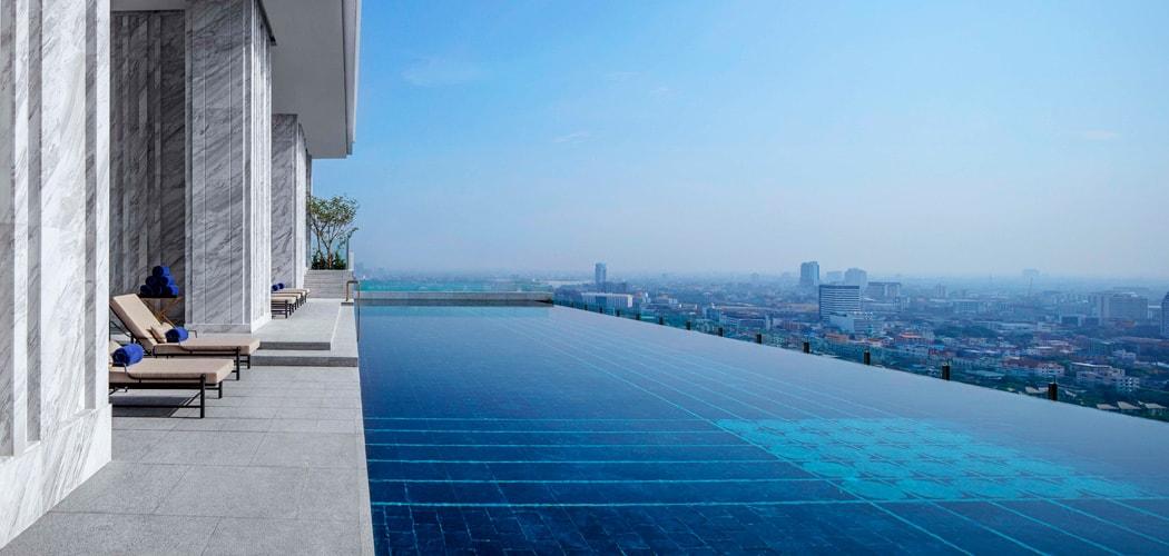 Ngắm bể bơi tầng thượng trong các khu căn hộ cao cấp trên thế giới