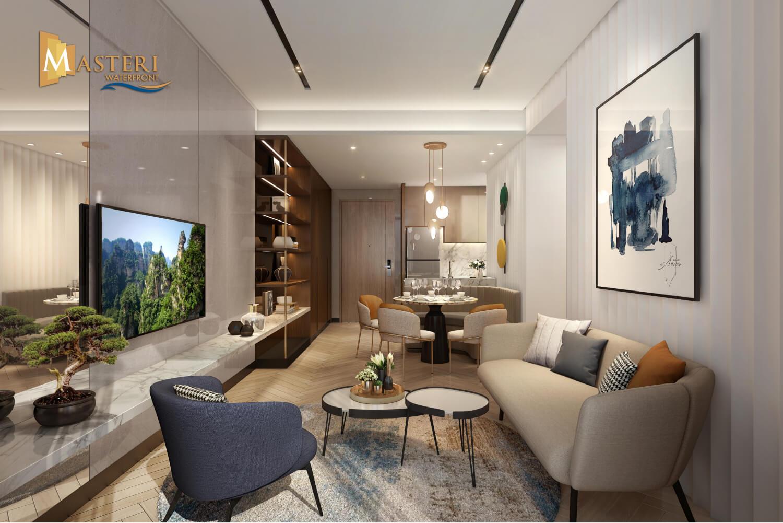 Phân tích căn hộ Masteri Waterfront 3 phòng ngủ ở Vinhomes Ocean Park